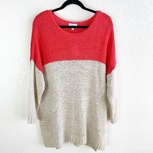 Joseph A. NWT Plus Size Color Block Sweater 2X